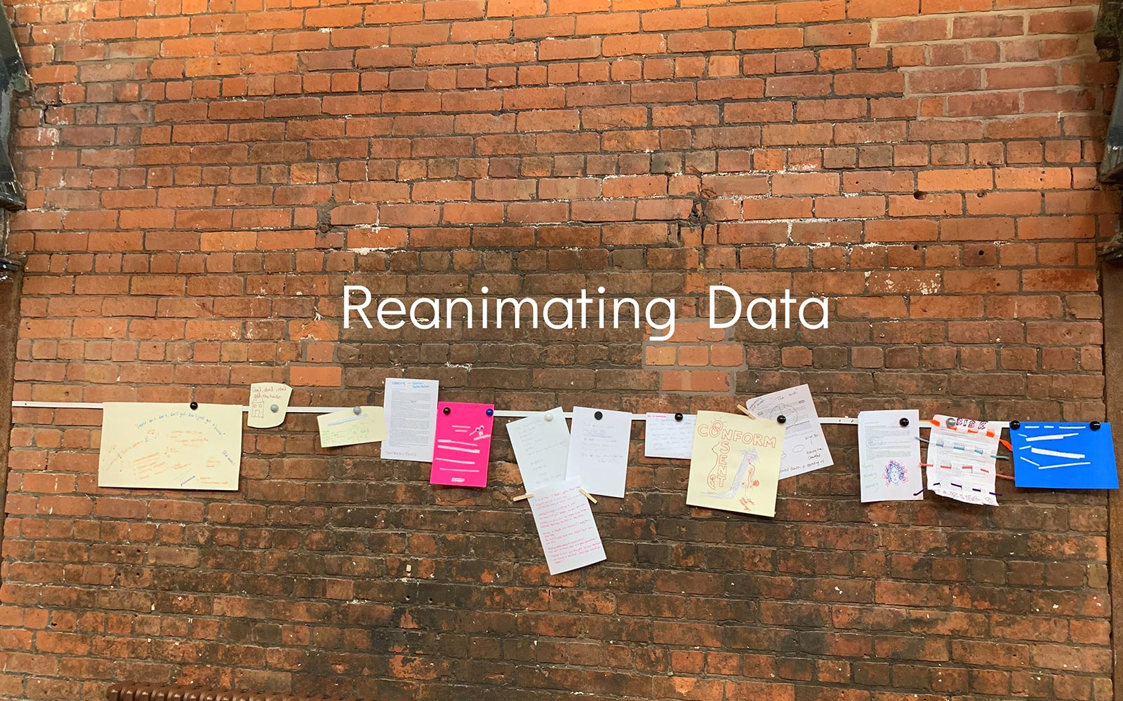 The Reanimating Data Project  banner